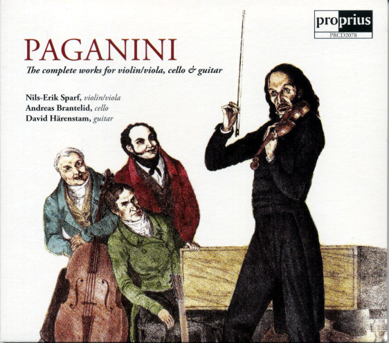 Paganini Works for Violin Viola Cello and Guitar